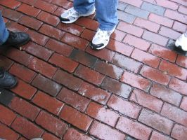 wet pavement by miracledrug