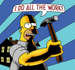 I DO ALL THE WORK- BLUE by Mkt777