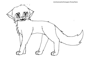 warrior cat line art by dreamcasterhoneypaw