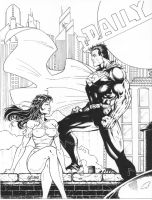 Lois and Clark Inked by broken-nib