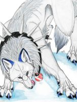 the white and blue wolf by Suenta-DeathGod