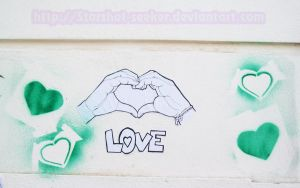 Hearts and Hands - wall part by Starshot-seeker