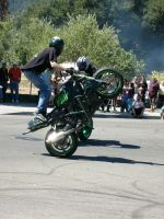 Stunt Riders at Car Show - 7 by RoadTripDog