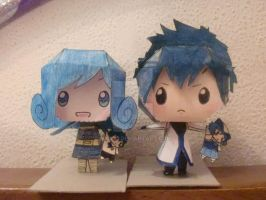 gray and juvia paper craft by mar93