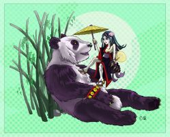 Giant Panda - Little Geisha by Kat-Nicholson