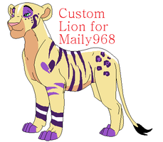 Custom Lion for Maily968 by BlackWolf1112-ADOPTS