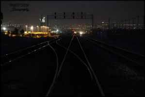 Mainline at dusk by DragonWolfACe