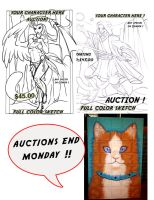 Auctions End on Monday! by lady-cybercat