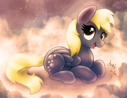 MLP FIM - Derpy Lying Down V 2 by Joakaha