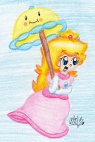 Peach and Her Parasol by BabyAbbieStar