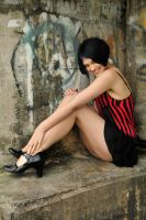 Haywire - red corset 1 by wildplaces