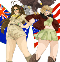 FemAustralia + FemAmerica [BaBBIEEEsS] by NerdyJones