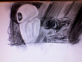 Wall-e charcoal drawing 2 by Pockymonkey