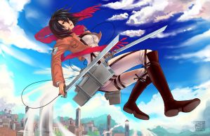 Attack on Titan - Mikasa Ackerman by ComplexWish