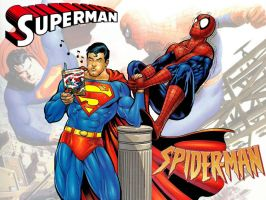 Superman vs Spiderman WP 2 by Superman8193