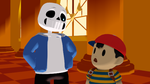 Sans and Ness by EnyatheAngelFox