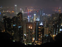 Hong Kong Victoria peak by guillotinemaster75