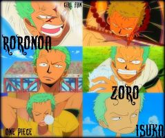 Roronoa Zoro Collage by LadyNoa