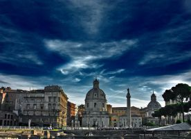 rome sunset by oblious