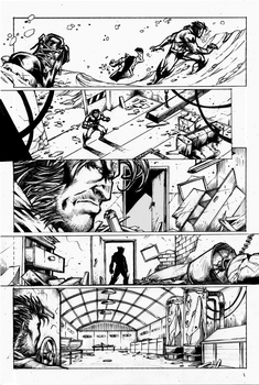 Wolverine Page 3 Inks by Blackmoonrose13