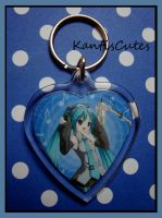 Hatsune Miku Keychain VOCALOID by ObjectionSoS