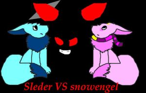 Snowengel VS sleder 'Cover' by PrincessKittenn