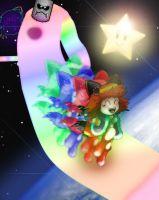 Karin In Rainbow Road by Rokku-D