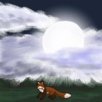 Fox and Moon (with link to music) by codefox421
