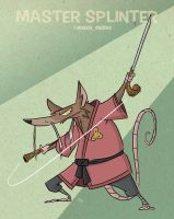 Master Splinter by tyrannus
