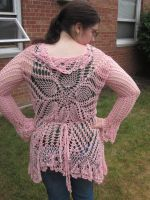 Pink Petals Doily Wrap by PamGabriel