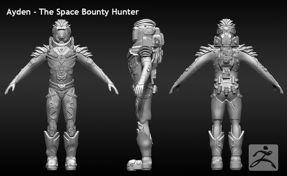 Ayden - The Space Bounty Hunter by AceCircus