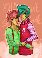 AH! WE SO CUTE by SarcasticPromises