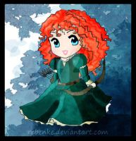 Chibi Merida by rebenke