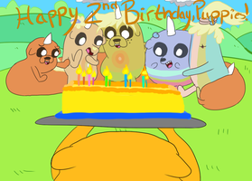 Happy Second Birthday Puppies by annabell22