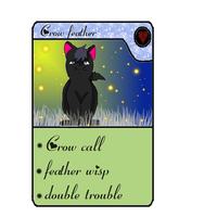 crowfeather card by QueenYami