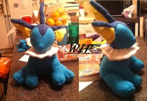 Vaporeon Plush WIP 2 by Ami-Plushies