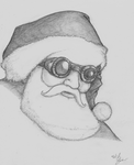 Steampunk Santa by Pentatomid