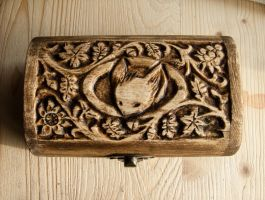 Mouse Guard carved box 3 by Garcifer