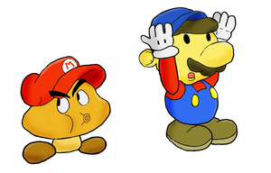 Paper Mario and Goombario by namatamiku