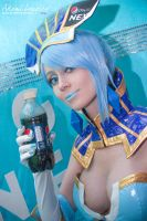 Blue Rose Cosplay and Pepsi Nex by adami-langley