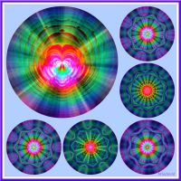 Collage of Mandalas. In a good way! by Mladavid