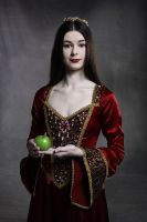 Young Woman with Apple by lawrencew