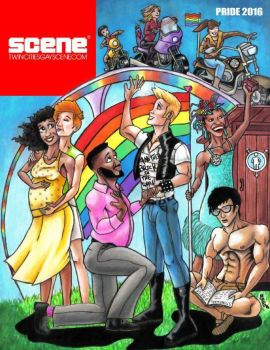 Twin Cities Gay Scene Magazine cover by Psystormin