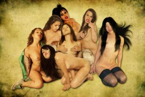 Group Nude by Showa93
