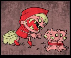 LITTLE RED N THE 3 LITTLE PIGS by Bisparulz