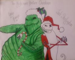 Jack and Oogie Christmas by ThePirateHobbit