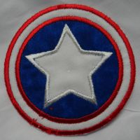 Captain America Iron On Patch by quiltoni