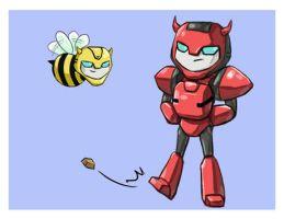 cliffjumper and BBB by f19850928