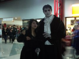 Barnabas Collins and Bellatrix Lestrange by Marilovett