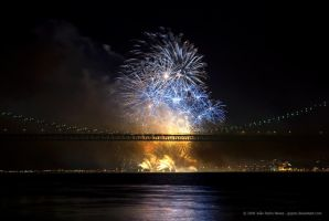Bridge Fireworks by jpgmn